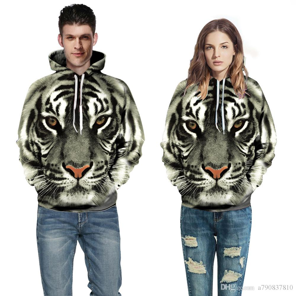 Couples Roar lion hoodies hommes femme casual style hoodies pour hommes Casual hoodies de la mode avec chapeau 11 couleur sortie d'usine en gros