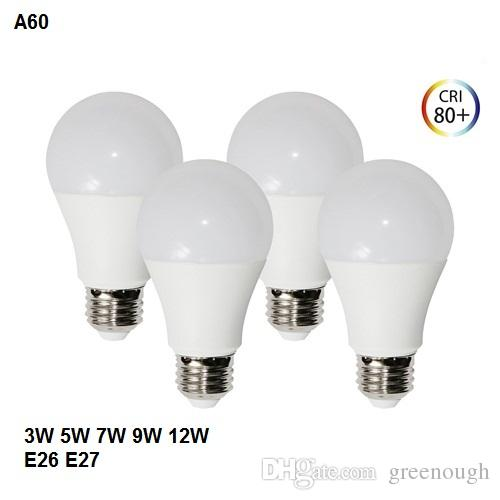 A19 a60 edison screw led bulb lights ac85 265v led globe bulb lamp dimmable indoor e26 e27 lighting 3w 5w 7w 9w 12w 7443 led bulb g4 led bulbs from