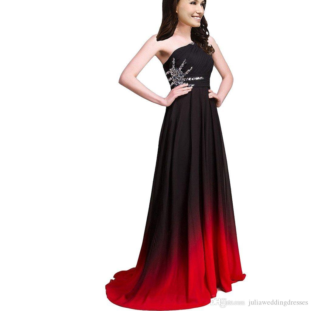 2017 New Gradient Long A Line Chiffon Prom Evening Dresses Women Formal  Gowns Floor-Length Party Gown QC441 Evening Dress Prom Dresses Celebrity  Dresses ... 58fa1242151f
