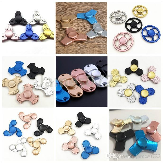Hand Spinners 9 Desings Fid Spinners Aluminum Alloy Triangle Leaf