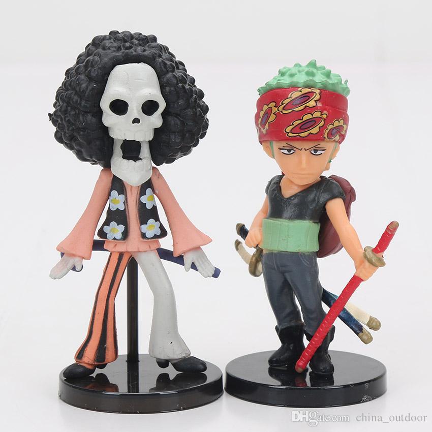 One Piece Action Figures Monkey D Luffy Roronoa Zoro Nami Usopp Sanji Tony Chopper Nico Franky Brook OP Full Toys