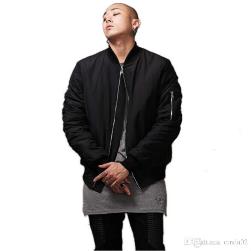 Fashion Style Mens Black Bomber Jacket Hi Street Flight Jacket Slim Fit Hip  Hop Varsity Letterman Jacket For Man Mens Winter Jacket Casual Jackets From  ... dd9db1b2f5f