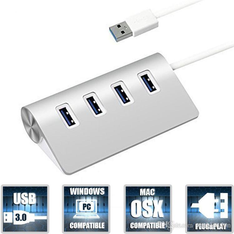 Adaptador de puerto USB TypeC de 4 puertos Adaptador de concentrador de alta velocidad tipo ultrafino tipo c a múltiples 4 puertos para la nueva tableta Macbook