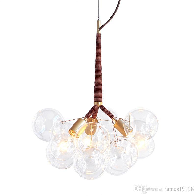 Creative Light vetro moderno nero Bubble lampada a sospensione del salone della casa del lampadario a bracci del soffitto libero PA0134 il trasporto