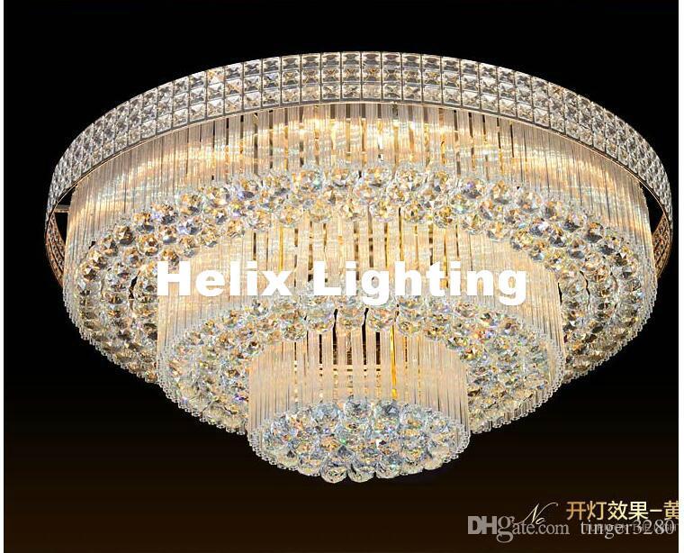 K9 كريستال مصباح السقف الحديثة s الذهبي كريستال الخفيفة نوم luminarias ديكور المنزل الإبداعية D80cm led كريستال إضاءة السقف