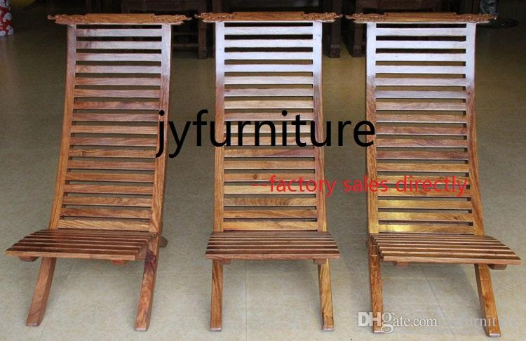 2018 Wood Beach Chair Leisure Home Chair Small Folding Chair Wood Chairs  100% African Rosewood Furniture Fine Tenon Structure Good Lacquer Craft  From ...