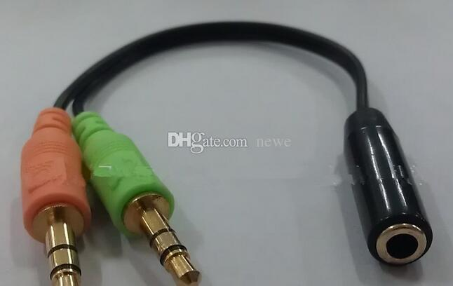 Neue Universal 3,5mm 2 in 1 Kopfhörer Audio Kabel Adapter Weiblich Zu Dual Männlich Verlängerungskabel Kabel Y Splitter Für Telefon PC MP3 MP4