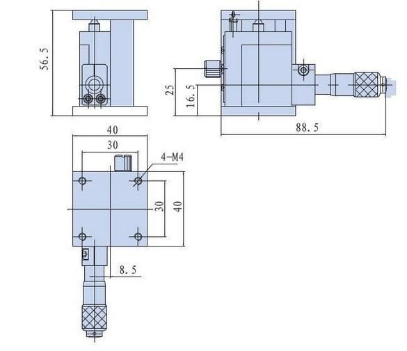 정확한 수동 리프트 2020 매뉴얼 연구소 잭 엘리베이터 광학 슬라이딩 리프트 13mm 여행 PT-SD401의 새로운 뜨거운 제품을 Z는 축