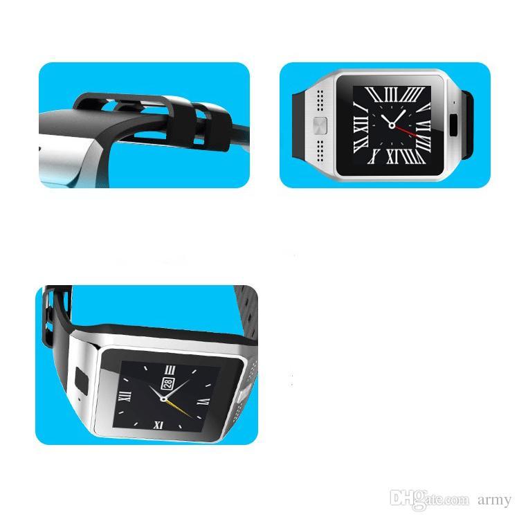 Neuankömmling! heiße JV08 Bluetooth Smart Watch Smartwatch für iPhone IOS Samsung Galaxy Android Smartphone Schrittzähler Schlafüberwachung am besten