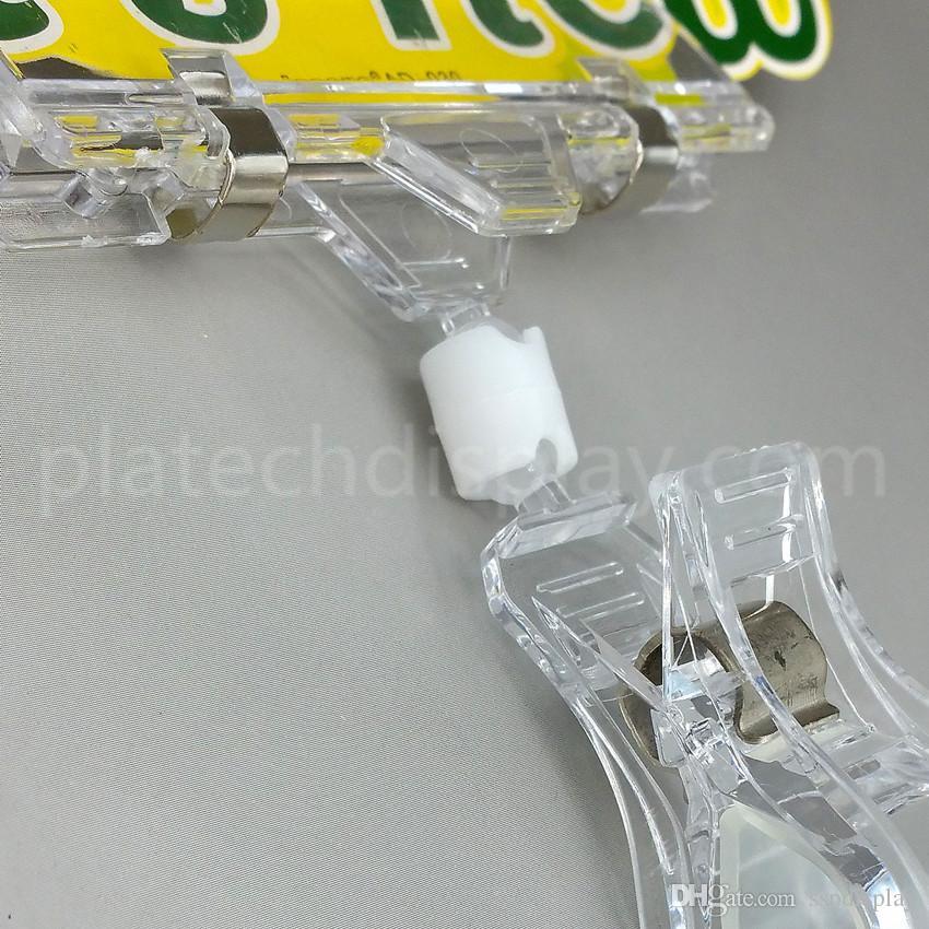 Özel Teklif POP Plastik Perakende Fiyat Burcu Memo Kart Kağıt Süpermarkette Kauçuk Astar Ile Reklam Reklam Tutucu Klip