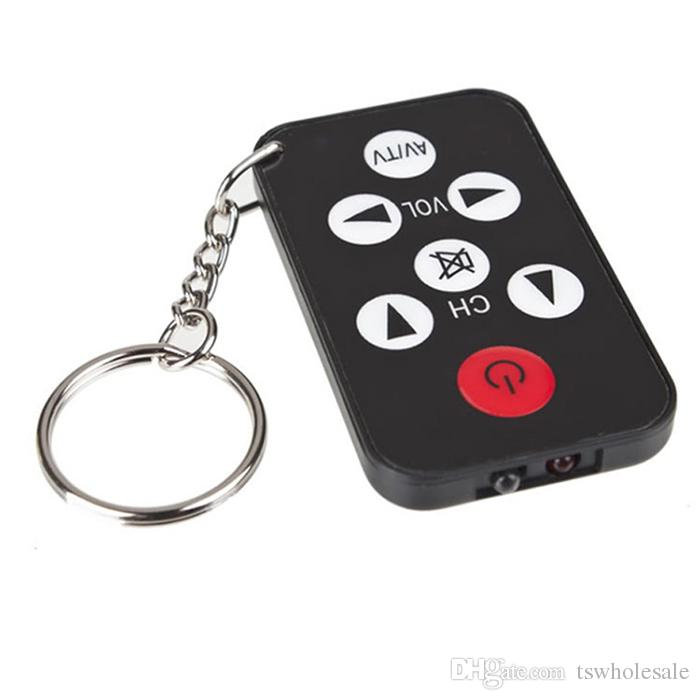 Wholesale Mini Universal Infrared IR TV Set Remote Control Keychain Key Ring 7 Keys Television Controller Free DHL
