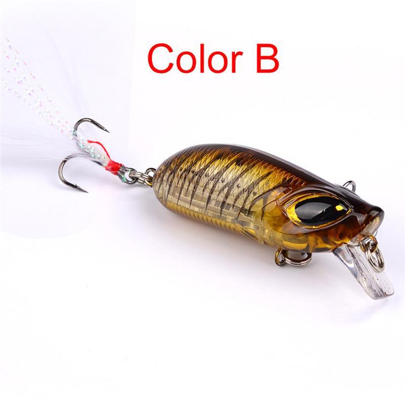 Top Quality 3D Big Eyes Artificial Minnow laser Fishing lure 5.5cm 8.2g Crank Bass Baits #6 high carbon steel Treble hook
