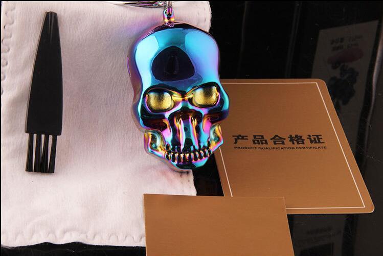 요금 windproof 라이터 빈티지 새겨진 두개골 마스크 소매 상자와 함께 에코 - 친화적 인 USB 라이터 시가 라이터 또한 그라인더 파이프를 제공합니다 새로운