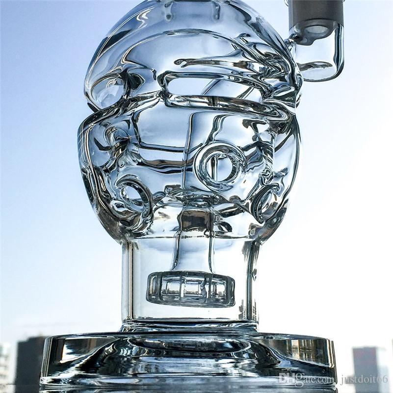 faberge verre d'oeuf bong plates-formes pétrolières recycleur avec pommeau de conduite d'eau suisse Perc perc dab plate-forme MFE011