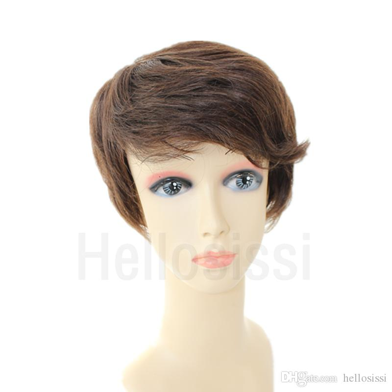 Fashion Style Brazilian Virgin Human Straight Hair Lace Front Wigs None Full Lace Human Short Hair Wigs For Black Women Wigs