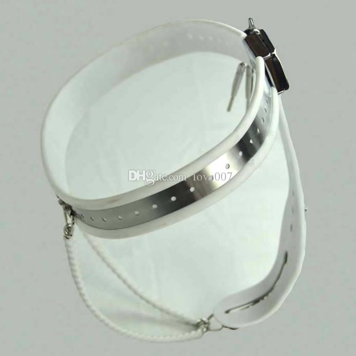 Female Adjustable shuang Model-Y Stainless Steel Premium Chastity Belt Locking Cover Removable WHITE color