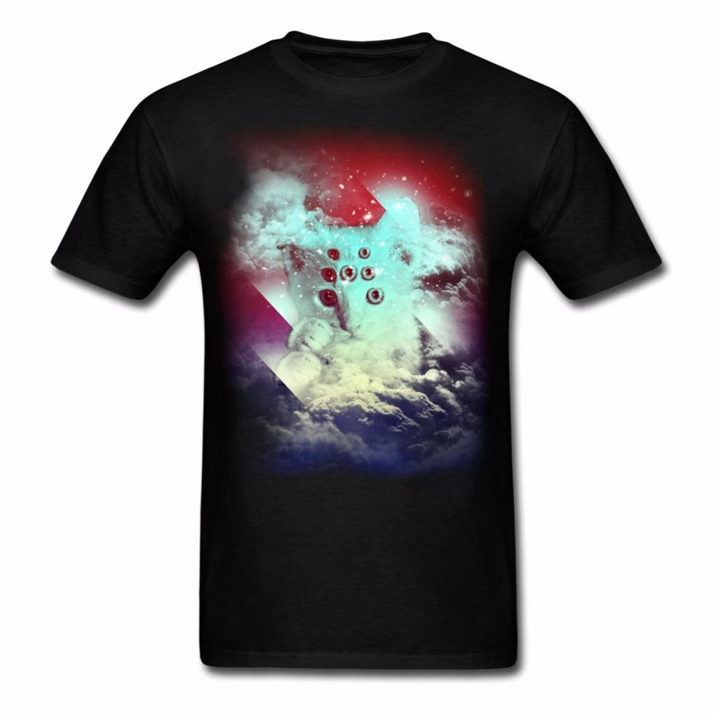1996d749 Men Extraterrestrial Cat Tee Shirt Personalized O Neck Create Tee Shirts  Newest Cotton Adult Tee Shirts Printed Mens Men T Shirt Custom T Shirts T  Shirt ...
