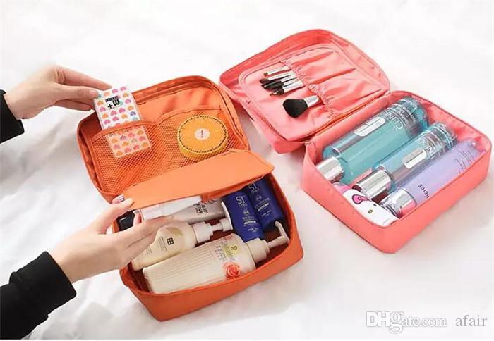 Travel Make Up Cosmetic Storage Zipper Bag Case Women Wash Makeup Bag Toiletries Kit Jewelry Organizer Travel multi pouch Handbag