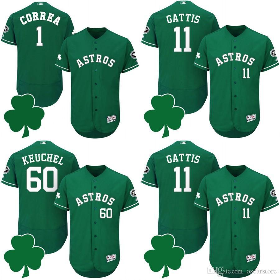 010349b22 ... order 2017 custom houston astros jerseys green st patricks day jersey  carlos correa dallas keuchel evan