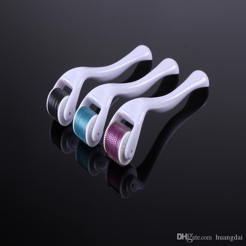 Retail DRS 540 Micro Needles Derma Roller Micro Needle, Skin DermaRoller, Skin Skönhet Roller, Rostfritt Stål Nålrulle.