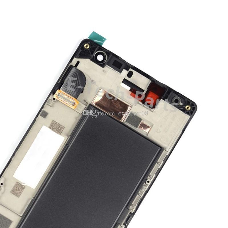 Für Nokia Lumia 730 735 LCD Display Bildschirm 4,7 '' Touchscreen Digitizer Rahmen Montage + Tempered Glass + Tools Freies Geschenk
