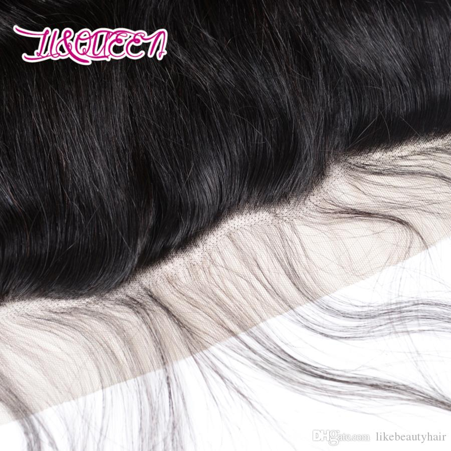 الهندي الجسم موجة الشعر البشري 13x4 الرباط أمامي إغلاق الجزء الحر غير المجهزة الهندي العذراء الشعر إغلاق أمامي اللون الطبيعي