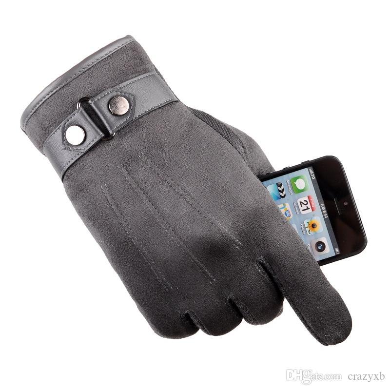 Haute qualité unisexe Polaire coupe-vent Gants d'hiver Gants écran tactile pour SmartPhone temps froid imperméable / coupe-vent