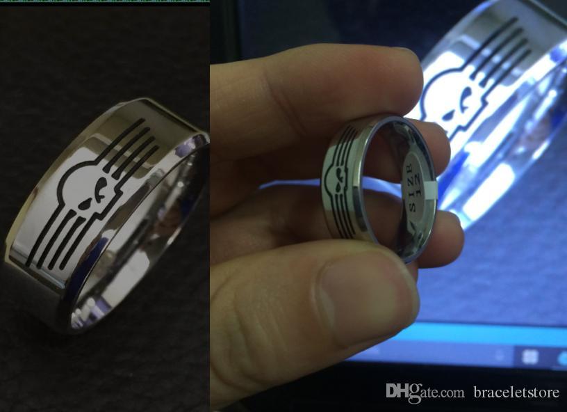 / 크기 7-14 새로운 연마 바이커 스타일 반지 316l 스테인레스 스틸 쥬얼리 Unisex Motorbiker 해골 반지
