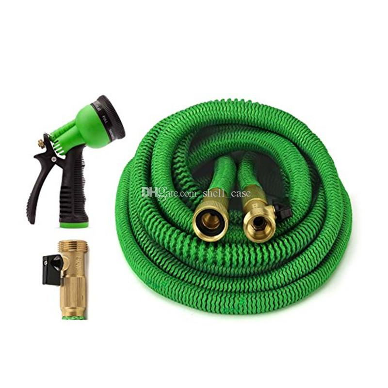 Expandable Flexible Garden Watering Hose 25FT 50FT Metal Connector with Spray Washing Car Pet Pipe 75FT 100FT EU US Version Hoses