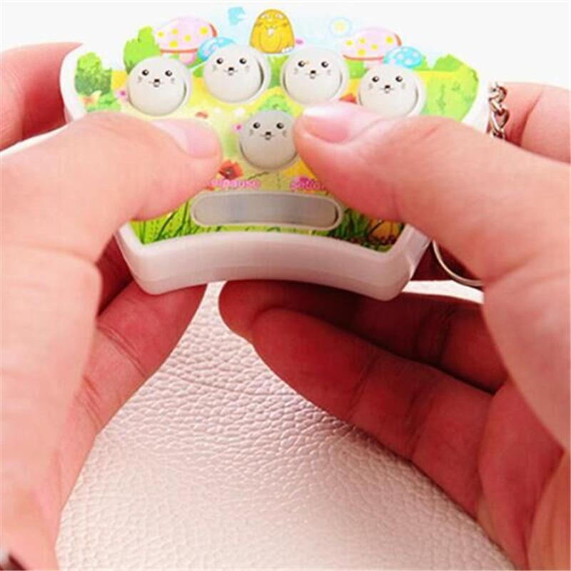 Mini Hit Hamster Handheld Game Machine Pendant 7cm Reduce Pressure ...