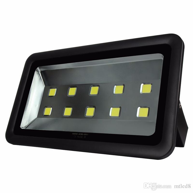 IP65 500W Led Прожекторы высокой мощности Открытый свет потока водить Автозаправочная станция освещения Водонепроницаемый Led парашютные лампочки AC 85-277V