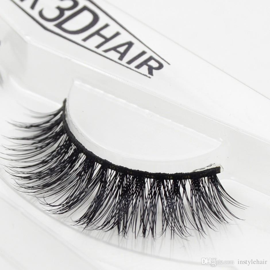2605bbd9612 100% Real Siberian 3D Mink Full Strip False Eyelash Long Individual ...