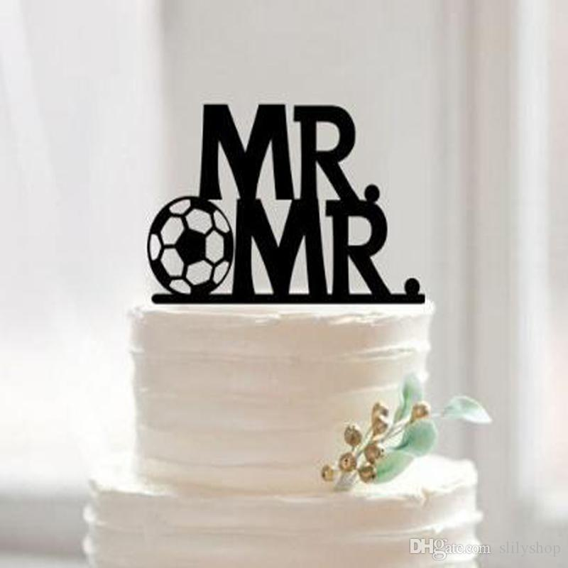 high quality mr and mr wedding cake topper laser cut acrylic letters