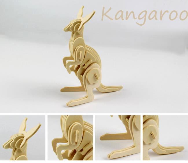 Acquista Jc913 Fai Da Te Kid 3d Animale Legno Puzzle Regalo Octopus