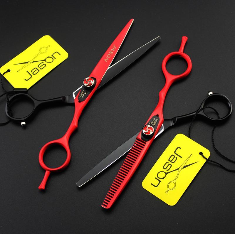 6.0 Inch Jason Forbici capelli Forbici professionali parrucchiere Kit taglio forbici assottigliamento JP440C Barber Scissors, LZS0520