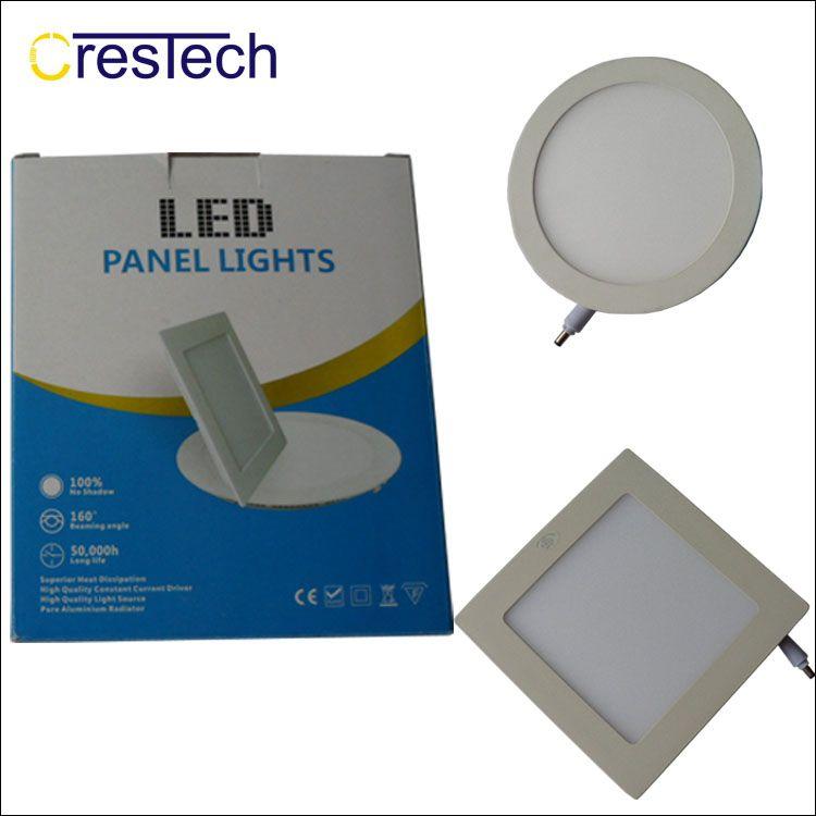 3W 6W 9W 12W Led empotrable Downlights Lámpara Blanco cálido Cool Super-Thin Led Panel de luces Redondo cuadrado