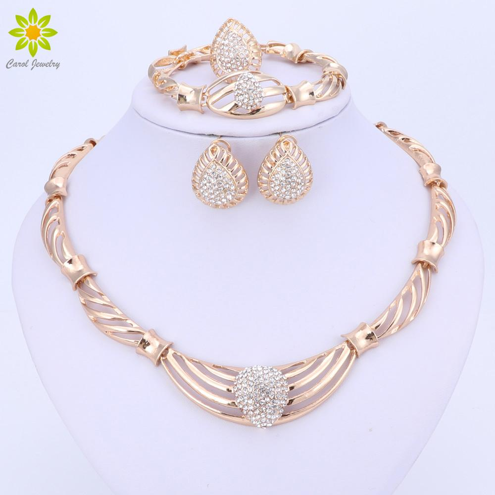 Gold Plated Necklace Set Dubai African Beads Romantic Bridal Jewelry Set For Women Wedding Jewellery Bride Jewelry Set Wedding Jewelry Sets Uk From ...  sc 1 st  DHgate.com & Gold Plated Necklace Set Dubai African Beads Romantic Bridal Jewelry ...