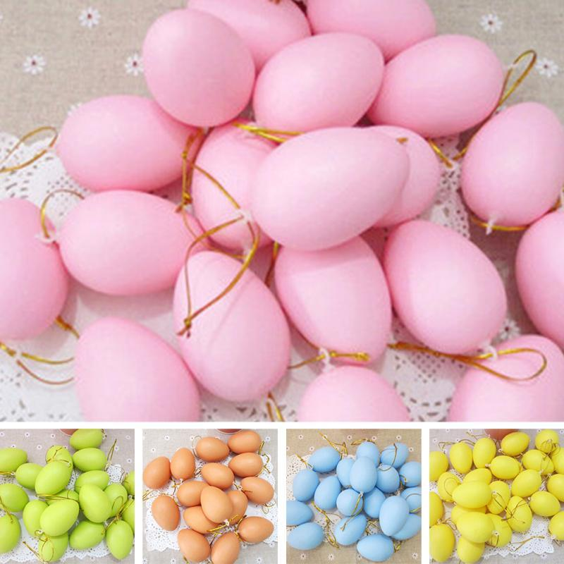 12Funny Colorful Educational Kids Pretend Play Toy Set Solid Color Easter Egg for Easter Day and Children Printing