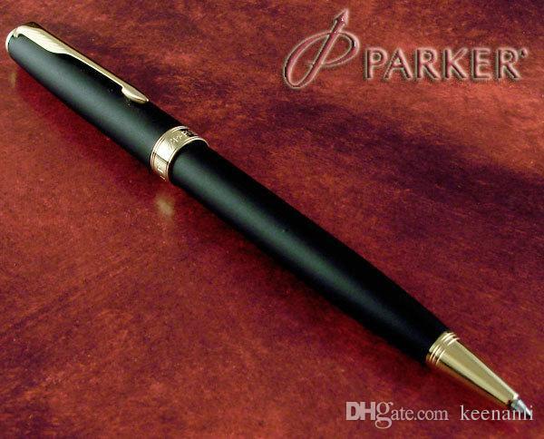 Freies Verschiffen Parker Kugelschreiber Schule Bürozubehöre Mattschwarz Parker Stifte Bürozubehöre Briefpapier Sonett Stift alles Metallmaterial