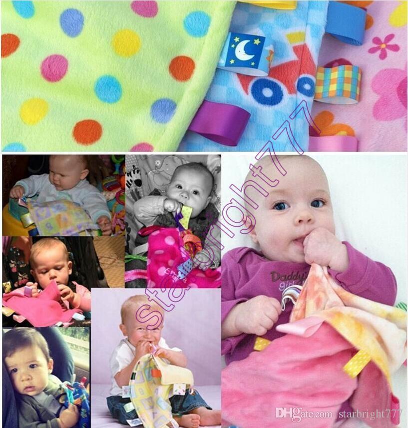 30 * 30 cm Emotion Pacify Blanket Cartoon Colorful Asciugamano bambini Swaddle Wrap Coperte Coperte Asciugamano Baby Coperta neonato