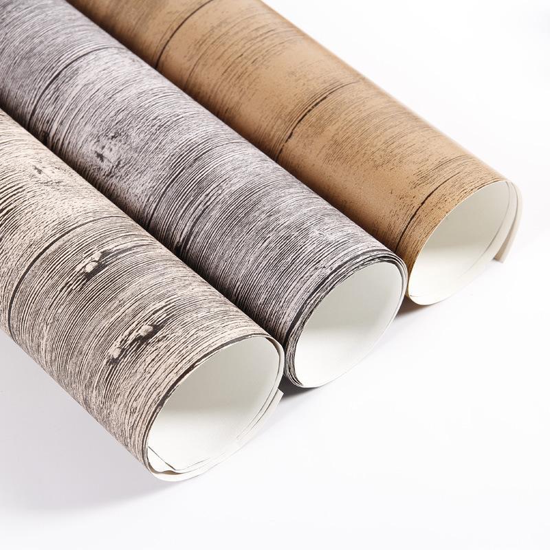 Ahşap tahıl fotoğraf backdrop kağıt 1.6 * 1.6ft 3 tasarımlar eski ahşap dokular su geçirmez PVC film kapak fotoğraf arka plan malzem ...