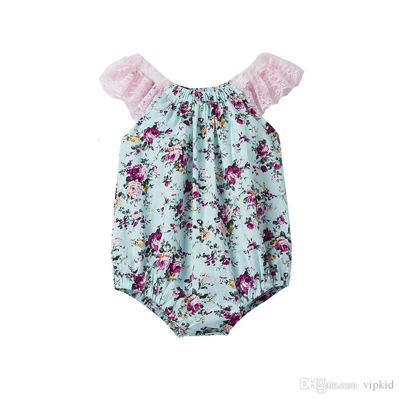 New style INS Rompers clothing lovely 4 models child printing a jumpsuit Romper cotton with high quality