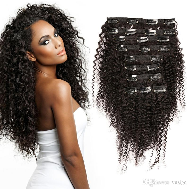 Clip in human hair extensions african american 70gpack kinky clip in human hair extensions african american 70gpack kinky curly brazilian virgin human hair clip in hair 12 24 natural color white hair weave extensions pmusecretfo Gallery