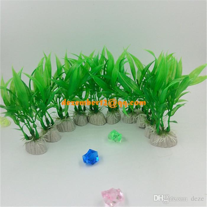 10cm green artificial plants fish tank aquarium decoration landscape ornament plastic grass plant from deze 503 dhgatecom