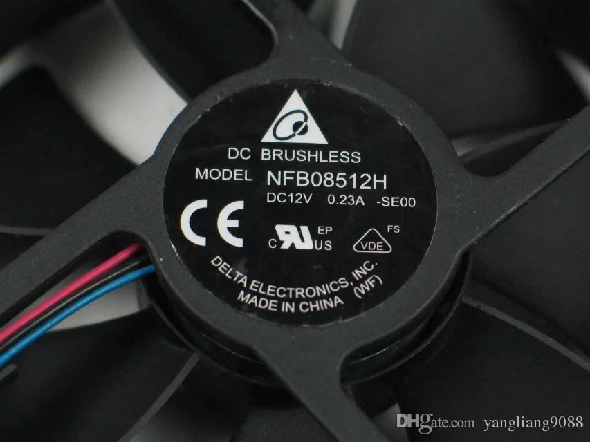 DELTA NFB08512H, - SE00 DC 12V 0.23 a, 85x85x25mm 50mm, 3-проводной 3-контактный разъем сервера квадратный вентилятор охлаждения
