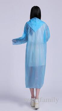 Disposable Raincoat Adult Emergency Waterproof Hood Poncho Travel Camping Must Rain Coat Unisex Wholesale