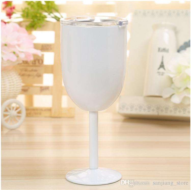 10oz Stainless Steel Wine Glass With Lid Double Wall Insulated Metal Drinking Cup Goblet Tumbler Red Wine Mugs best