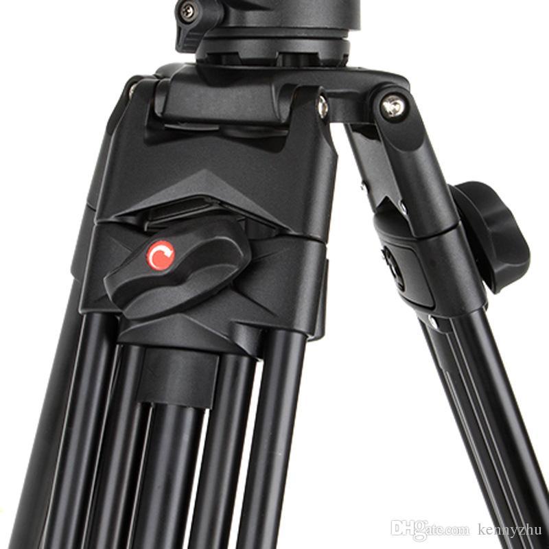 Viltrox Pro 1.8m Aluminium Heavy Duty Vidéo Fluide Trépied VX-18M + Pan Tête + Sac de Transport pour DSLR Caméra DV Caméscope