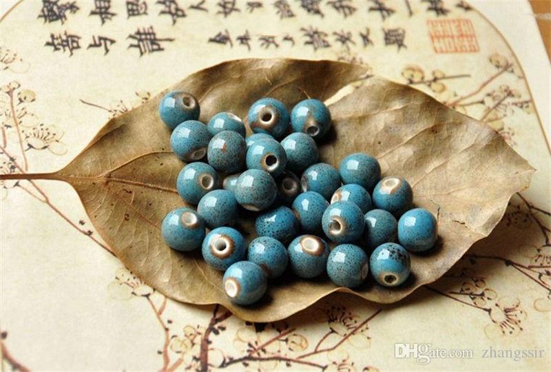 BoYuTe  Round 8MM Glaze Ceramic Diy Beads Jewelry Making Fashion Beads