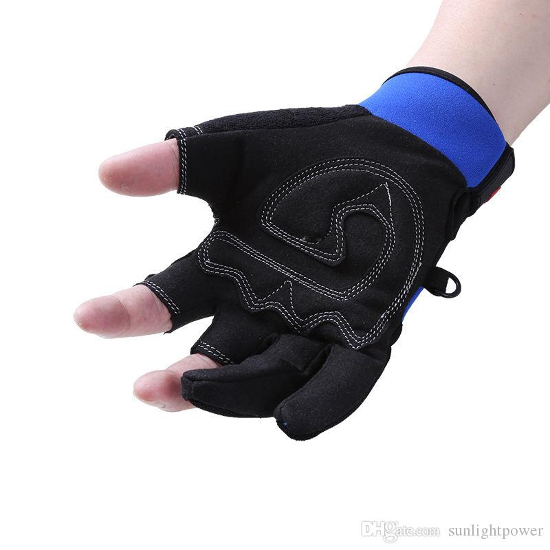 Fingerless Expuesto HombresMujeres Guantes de Pesca Transpirable Antideslizante Velero Vela Pesca Caza Impermeable 3 guantes de corte